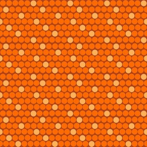 Staggered Polka Dots Orange