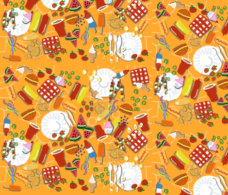 AFTERNOON LUNCH IN THE SUN fabric by tracydb70 on Spoonflower - custom fabric