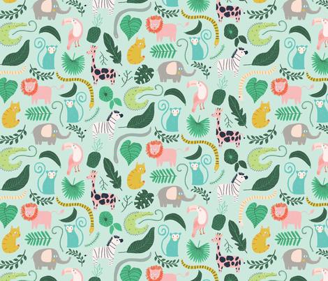 little jungle fabric by littlefoxhill on Spoonflower - custom fabric