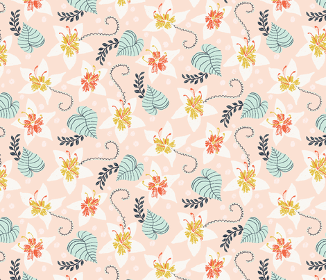 sweet tropics fabric by littlefoxhill on Spoonflower - custom fabric