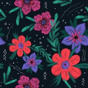 Dark Bohemian Floral