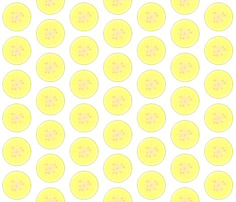 L is for lemon fabric by kae50 on Spoonflower - custom fabric
