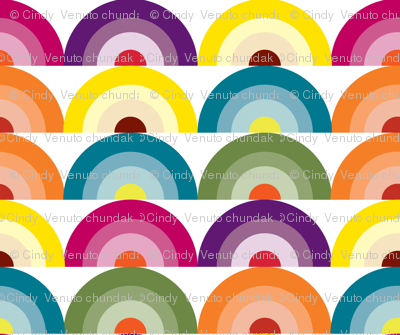 Geology Rocks, Rainbow fabric, Vintage Inspired, Color Spectrum, Colorful fabric, Happiness