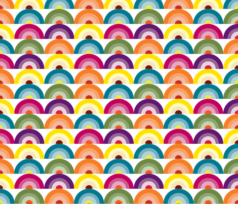 Geology Rocks, Rainbow fabric, Vintage Inspired, Color Spectrum, Colorful fabric, Happiness fabric by applebutterpattycake on Spoonflower - custom fabric