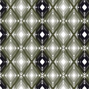 Dark Green Gradient Geometric