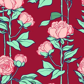 Rose Lines Large 2