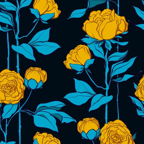 Rose Lines Large 1 fabric by jadegordon on Spoonflower - custom fabric