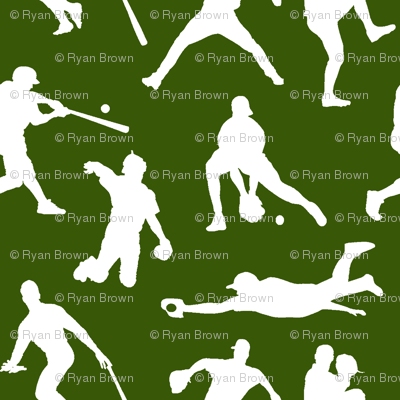 Baseball Players on Green // Small