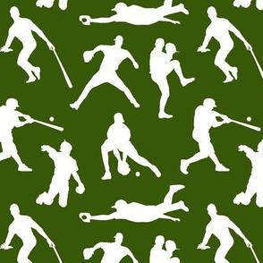 Baseball Players on Green // Small