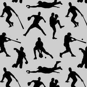 Baseball Players on Light Grey // Small