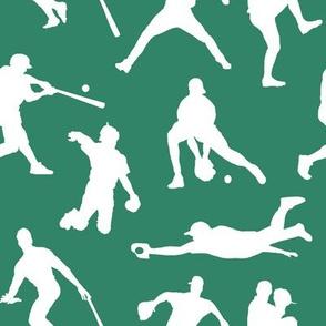 Baseball Players on Aquamarine // Large