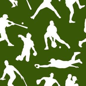 Baseball Players on Green // Large
