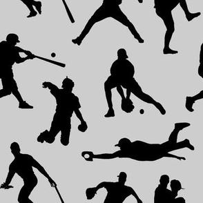 Baseball Players on Light Grey // Large