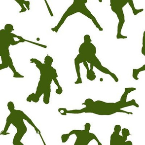 Green Baseball Players // Large