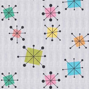 Atomic squares large pastel