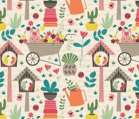 backyard fabric by gkumardesign on Spoonflower - custom fabric