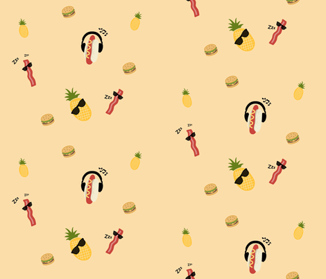 Chillin' fabric by crotte on Spoonflower - custom fabric