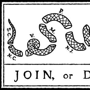 """Join or Die Flag (27""""W)"""