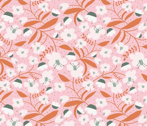 Hand Cut Blooms // on Pink wallpaper - beshkakueser