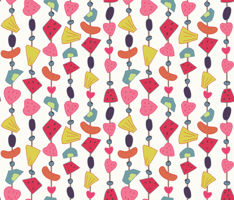 Summer Cook Out - Fruit Kebabs fabric by samantha_faye_designs on Spoonflower - custom fabric
