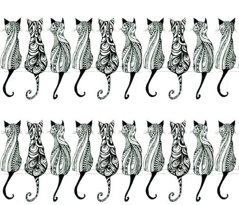 Koi Cats! fabric by fabricsoftime on Spoonflower - custom fabric