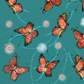 butterfly repeat flat print