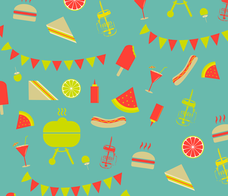 summer barbecue-01 fabric by sissi-tagg on Spoonflower - custom fabric