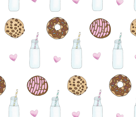Sweets y Leche fabric by crystaldomi on Spoonflower - custom fabric