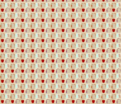 Brown Paper Bag Lunch fabric by kae50 on Spoonflower - custom fabric