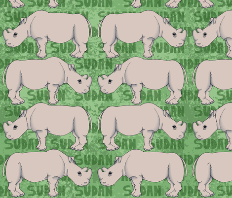 Endangered Northern White Rhino fabric by emily_laughlin on Spoonflower - custom fabric