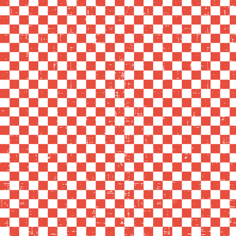 Gingham - Distressed Red & White fabric by heatherdutton on Spoonflower - custom fabric