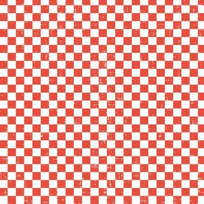 Gingham - Distressed Red & White