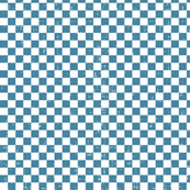 Gingham - Distressed Blue & White