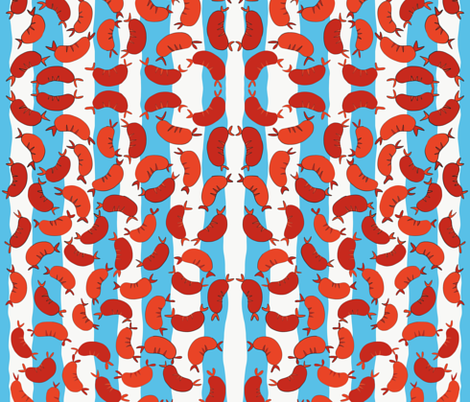 Festa Della Salsiccia fabric by lilliangrant on Spoonflower - custom fabric