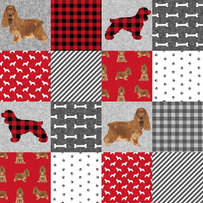 cocker spaniel pet quilt a cheater quilt collection dog breed fabric