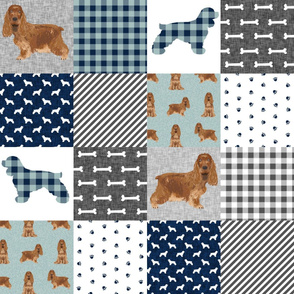 cocker spaniel pet quilt b cheater quilt collection dog breed fabric