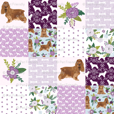 cocker spaniel pet quilt c cheater quilt collection dog breed fabric