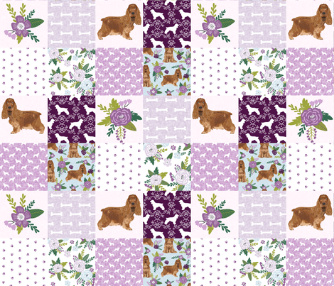cocker spaniel pet quilt c cheater quilt collection dog breed fabric fabric by petfriendly on Spoonflower - custom fabric
