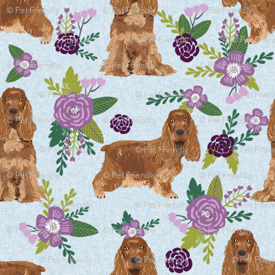 cocker spaniel pet quilt c collection floral coordinate dog breed fabric