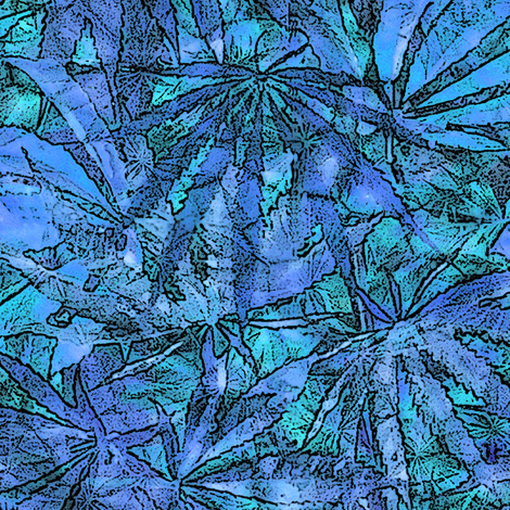 Blue  Blue Batik fabric by camomoto on Spoonflower - custom fabric