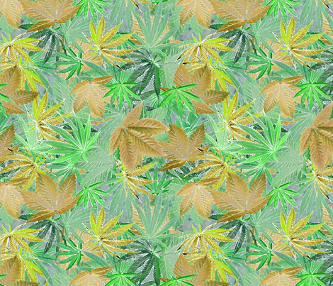 Pale Green Cannabis Camo fabric by camomoto on Spoonflower - custom fabric