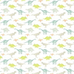 Mini Dinos on White