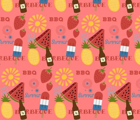 Let's Eat! fabric by kindlemade on Spoonflower - custom fabric