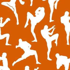 Muay Thai on Dark Orange // Large