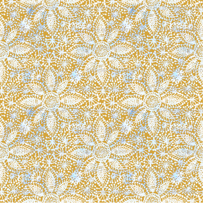 Rustic white lace (leaf yellow)