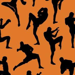 Muay Thai on Orange // Large