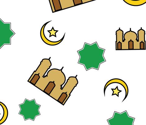 ramadan pattern seamles fabric by iop-micro on Spoonflower - custom fabric