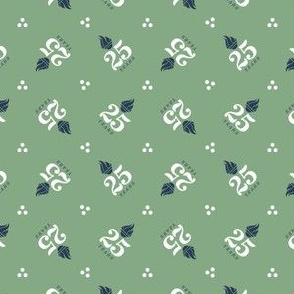 TGS 25th Simple Logo - On Green