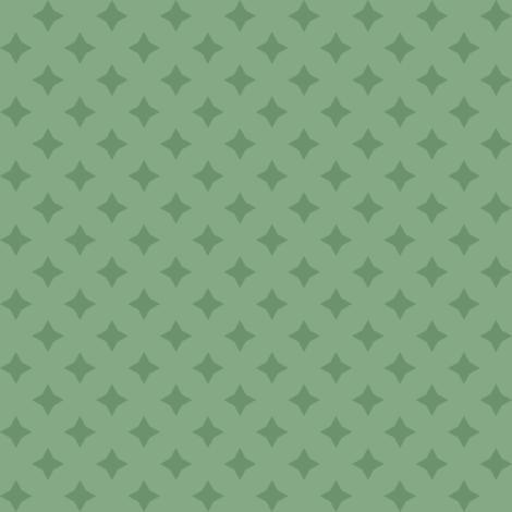 TOT - Green Stars Dark on Light fabric by piecefulbee on Spoonflower - custom fabric