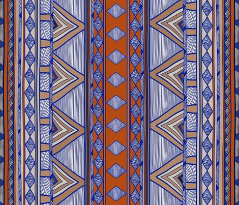 Modern Farmhouse Folk Art Blanket fabric by vagabond_folk_art on Spoonflower - custom fabric